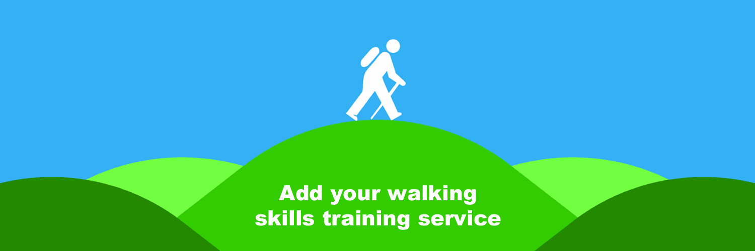Add your walking skills training service